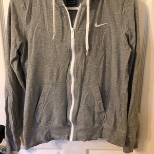 Nike light weight zip up hoodie